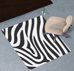 Design Print Chair Mats - Carpeted Surfaces